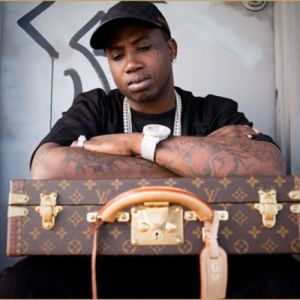 Gucci Mane LV Suitcase Pic